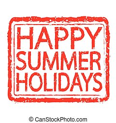 HAPPY SUMMER HOLIDAYS stamp text design