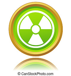 Atomic icon - Nuclear icon on a white background