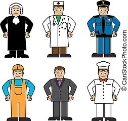 Cartoon set of people of different
