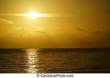 Beautiful sunrise at the baltic sea