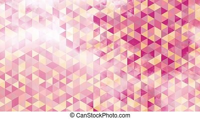 animation, girly colors, triangles - animation in girly...