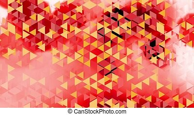 graphic animation w red spots - colorful animation with red...