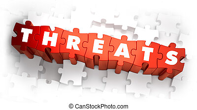 Threats - Word on Red Puzzles 3D Render
