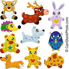 Toy animals - Wild toy animals (lynx, deer, hare, hedgehog,...