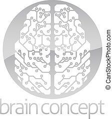 Abstract circle electronic brain - An abstract illustration...