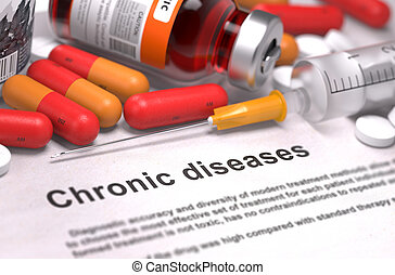 Diagnosis - Chronic Diseases. Medical Concept. - Diagnosis -...