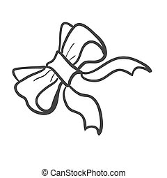 Doodle bow-knot, excellent vector illustration, EPS 10