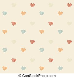 Vintage scribble heart