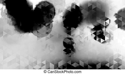 graphic black and white animation with triangles and spots...