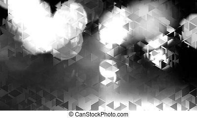 graphic black and white animation with triangles and flashes...