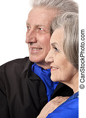 Happy senior couple - Portrait of a happy senior couple on a...