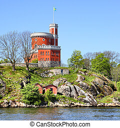 Kastellet fortress on a small island in Stockholm, Sweden