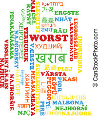 Worst multilanguage wordcloud background concept -...