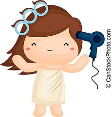 Hairdryer Illustrations and Clipart. 2,568 Hairdryer royalty free ...