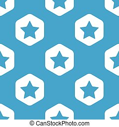 Favorite hexagon pattern - Blue image of star in white...