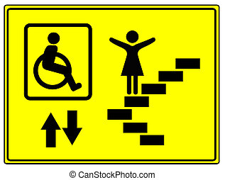 Mobility and Inclusion - Elevator sign for mobility impaired...