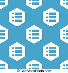 Dotted list hexagon pattern - Blue image of dotted list in...