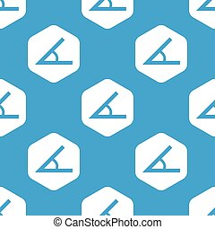 Angle hexagon pattern - Blue image of angle in white...
