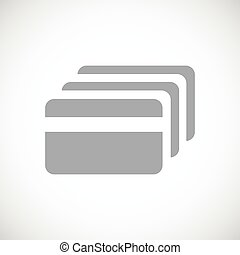 Credit card icon - Simple icon with image of credit card