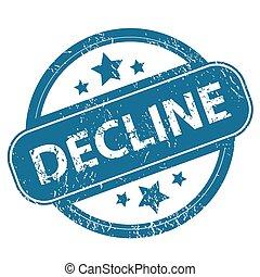 DECLINE round stamp