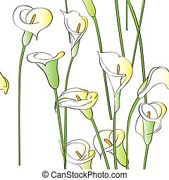 calla pattern - Calla asymmetrical pattern, celebration...