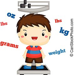Boy Weighing