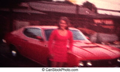 (8mm Vintage) 1971 Women Red Camero