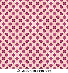Seamless polka purple dots peach
