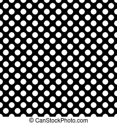Seamless polka white dots black