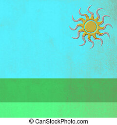 Field in summer, abstract background with empty space for...