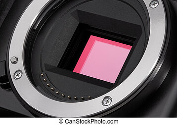 Camera image sensor - Closeup of camera image sensor