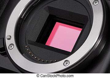 Camera image sensor - Closeup of camera image sensor
