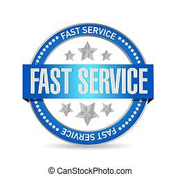 fast service seal sign concept illustration design over...