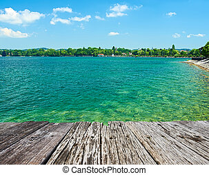 Lake Constance at Germany - Lake Constance Bodensee at...