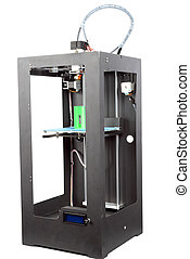 Picture of a three-dimensional printer - Photo of a big...