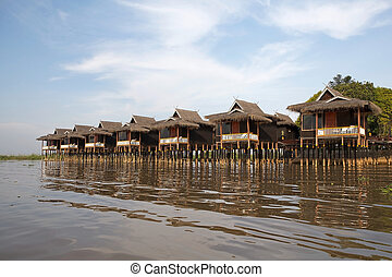 Inle Lake - Resort on the Inle Lake, Myanmar or Burma...