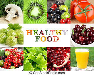 Healthy food backgrounds. Fresh fruits and vegetables