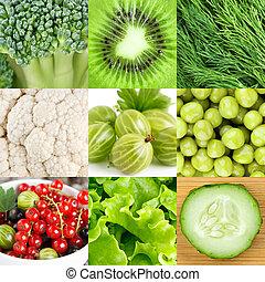 sano, cibo, verde, fondo