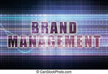 Brand Management on a Tech Business Chart Art