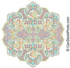 Mandala paisley - Vector illustration of isolated on white...