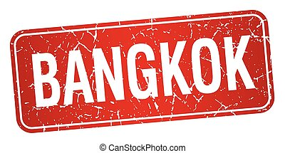 Bangkok red stamp isolated on white background