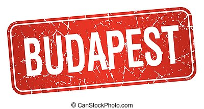 Budapest red stamp isolated on white background