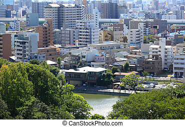 Nagoya cityscape - NAGOYA, JAPAN -SEPTEMBER 13: Nagoya...