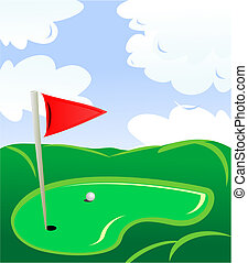 Golf field landscape as a concept of golf game