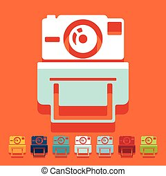 Flat design: old photocamera