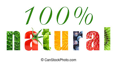 100 percent natural food concept