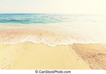 Beach defocus - Defocused.Summer background - beach and...