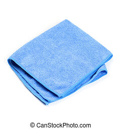 Cleaning rag on white background