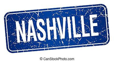 Nashville blue stamp isolated on white background