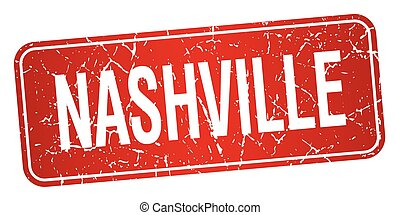 Nashville red stamp isolated on white background
